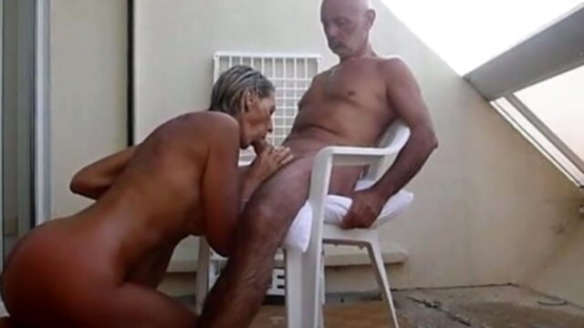 Mature couple fucks on the.. blonde mature french