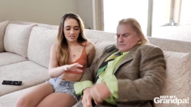 Not My Grandpa blowjob old & young hd videos