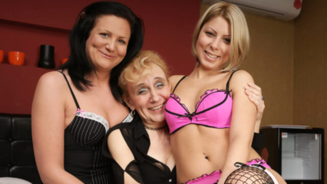 Three Old And Young Lesbians.. big ass big tits cunnilingus