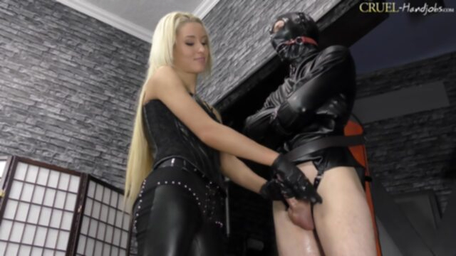 CruelHandjobs - On The Edge bdsm blonde femdom