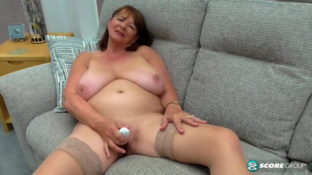 PornMegaLoad - Jilly Smith big tits brunette granny