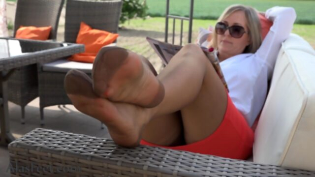 Crazy sex clip MILF.. fetish foot fetish footjob
