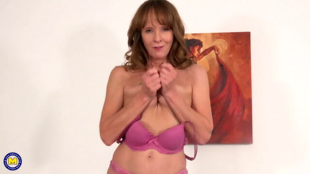 Fit grandmother fucks her.. amateur sex toy mature